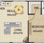 Planos con medidas para departamentos de 50 metros cuadrados