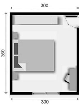 Planos de dormitorios matrimoniales con medidas