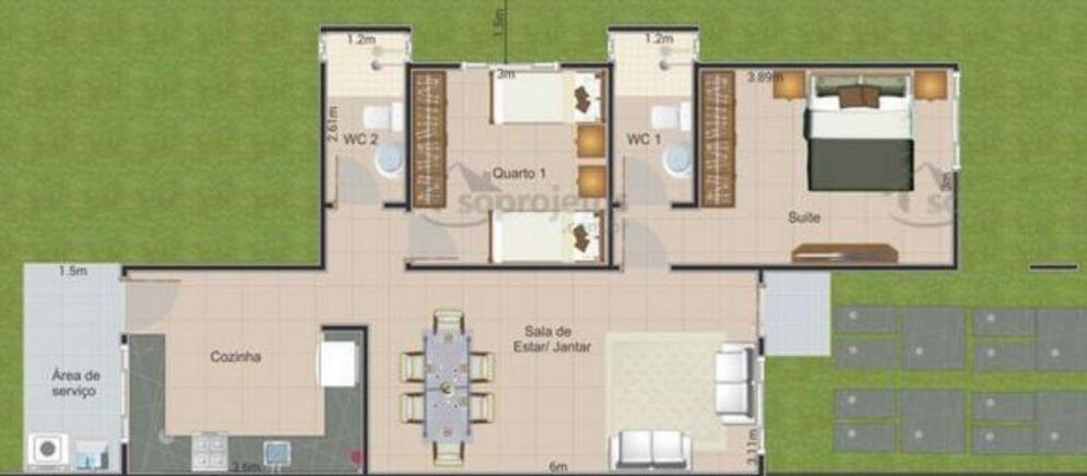 Planos y fachadas de casas modernas de 72m2 planos de casas for Fachadas de casas modernas en honduras