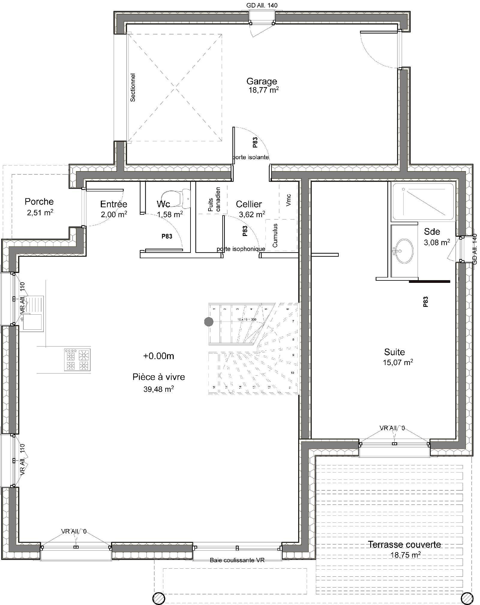 Planos y fachadas de casas pequenas de una planta y tres for Modelos de casas de una sola planta