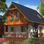 Casa con techo hasta el suelo