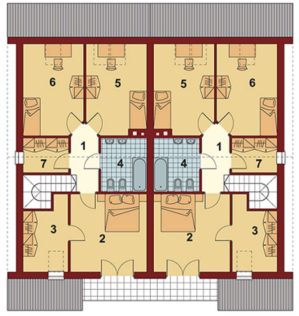 Casa duplex gemelas