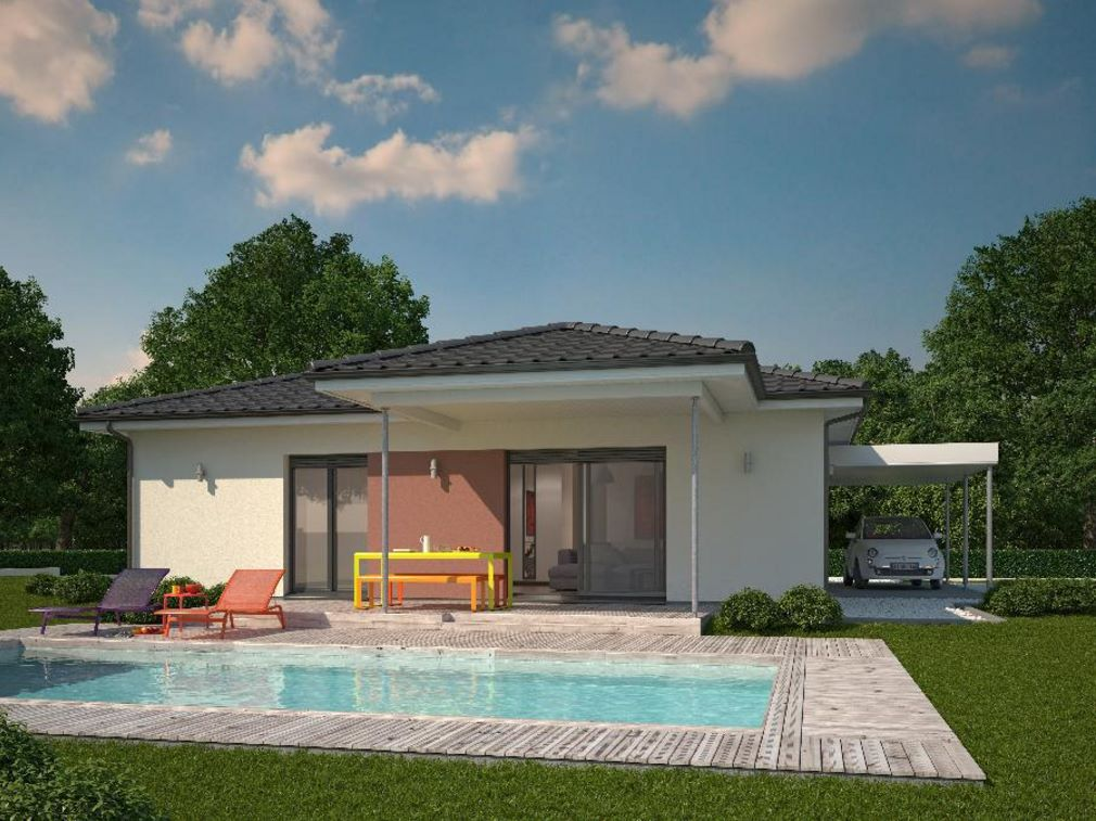 casa moderna con forma cuadrada