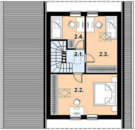 Casa techo al piso