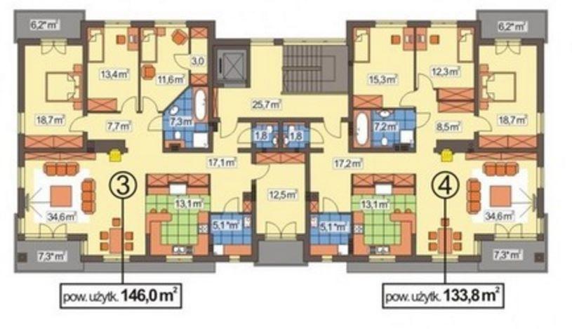 Complejo de departamentos for Edificio de departamentos planos