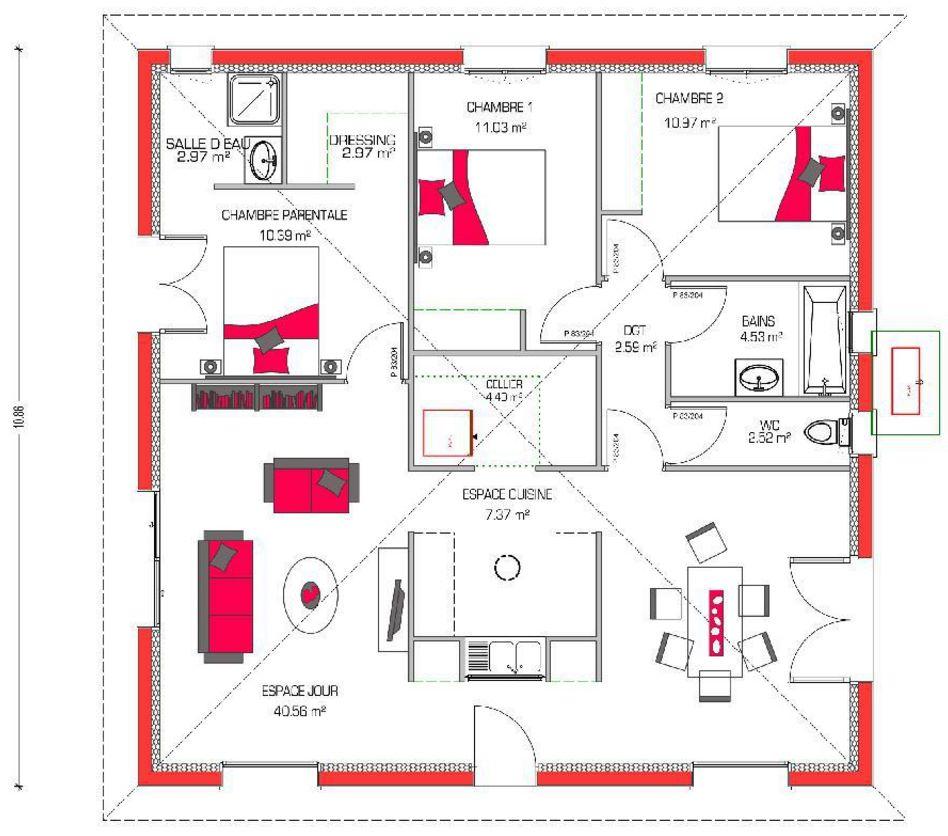 1 piso for Ver planos de casas de un piso
