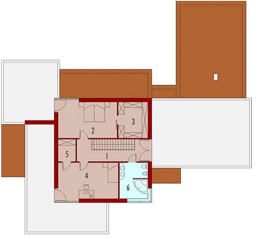 Plano de casa de cortes rectos