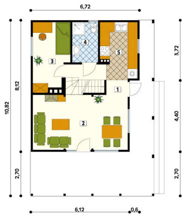 Plano de casa hecha en madera