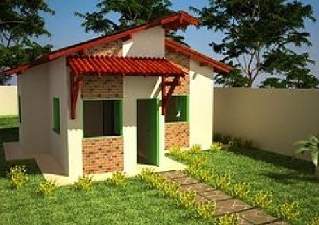Plano de casa pequeña de 7 x 8 m