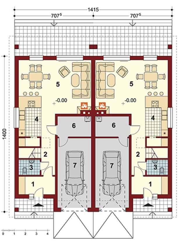 Plano de duplexs en paralelo
