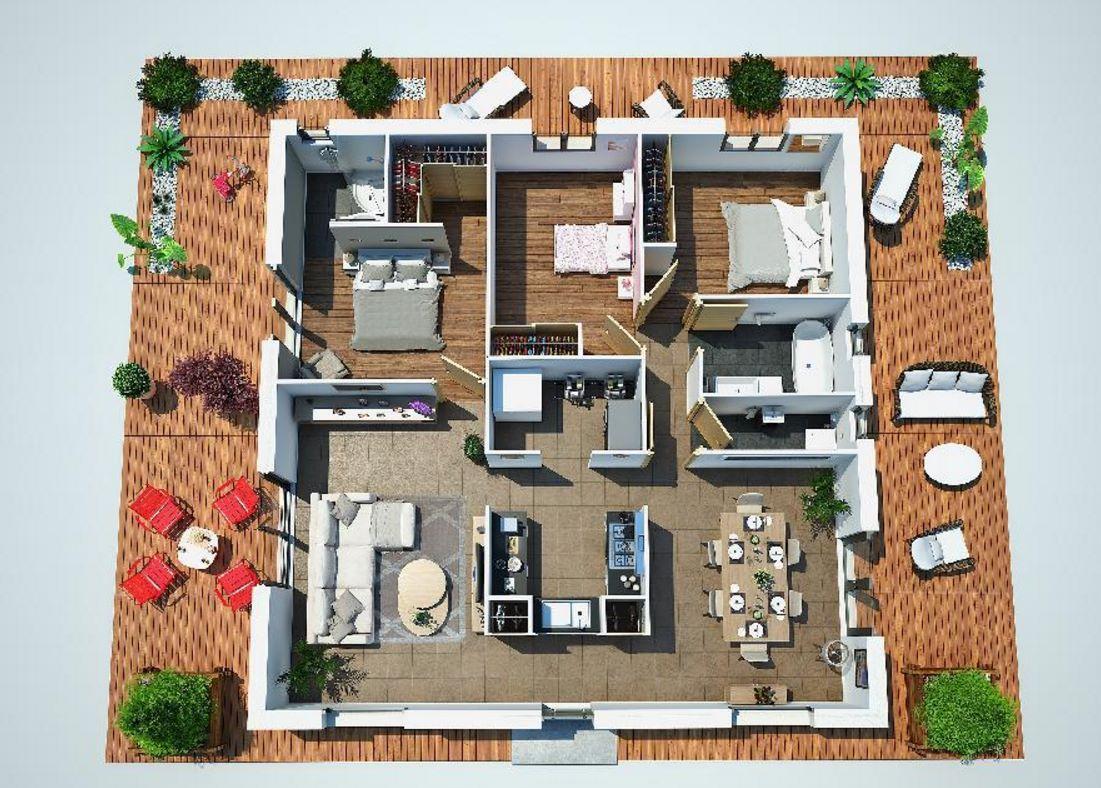 planos de casas modernas de 300 m2