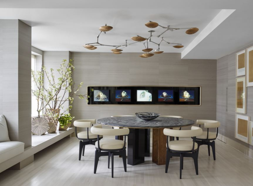 Fotos de salas y comedores modernos for Juego de comedor moderno