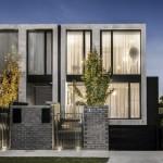 Casa angosta y larga moderna