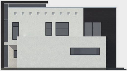 Casa moderna con piscina atras