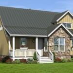 Casa revestida en piedra y madera
