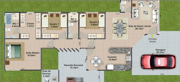 Planos de casas con dormitorio en suite