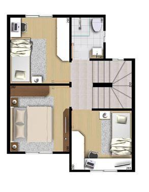 Planos de casas economicas de 2 pisos