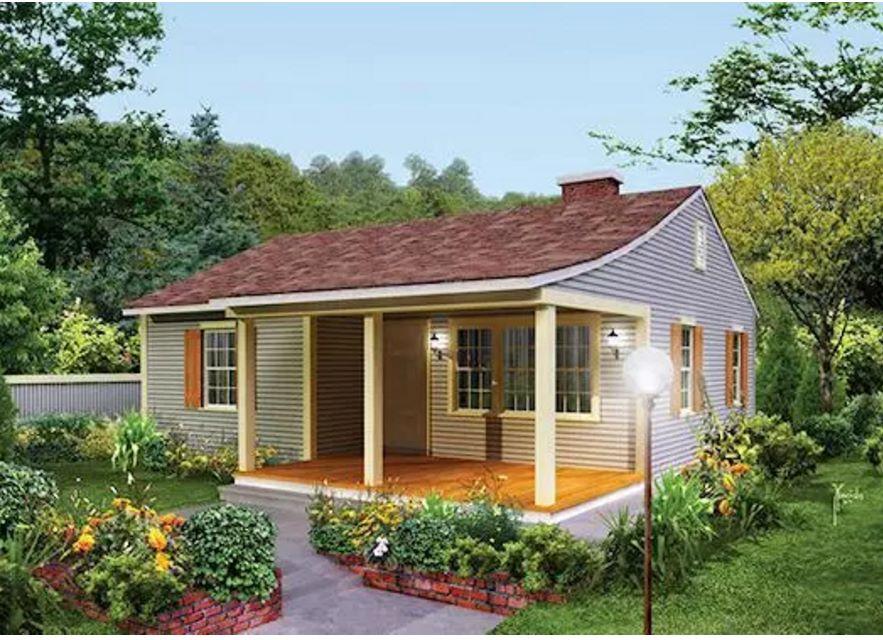 Casa peque a de 2 dormitorios y 70 metros cuadrados for Casa de 2 plantas de 70 metros cuadrados