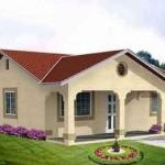 Casa sencilla con corredores coloniales