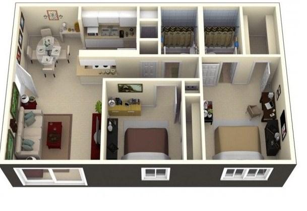 Casas de 72 metros cuadrados