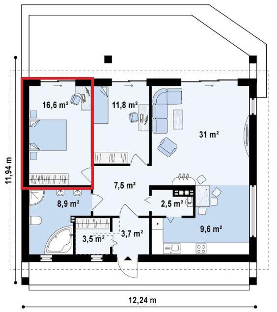 cuanto debe medir un dormitorio matrimonial