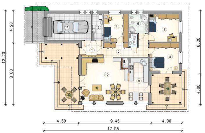 Descargar planos de casa de 3 recamaras con medidas gratis for Planos de casas con medidas