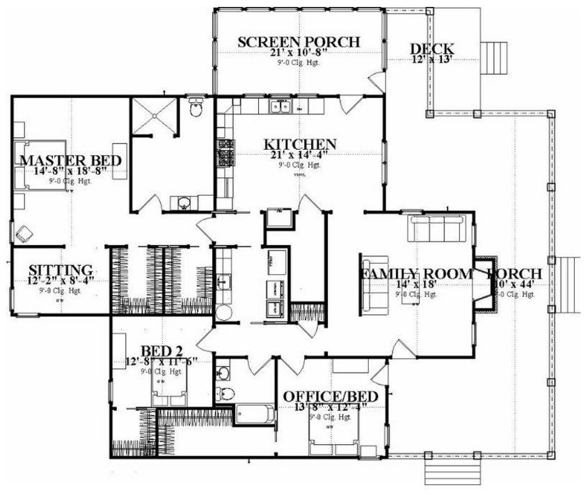 Diseños de casas con 3 recámara en un terreno