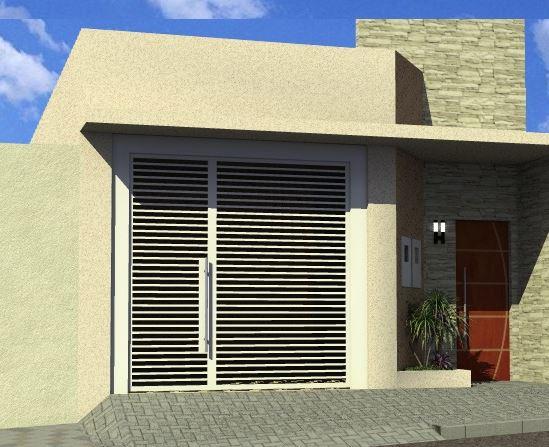 Fachadas de casas simples 5 metros de frente