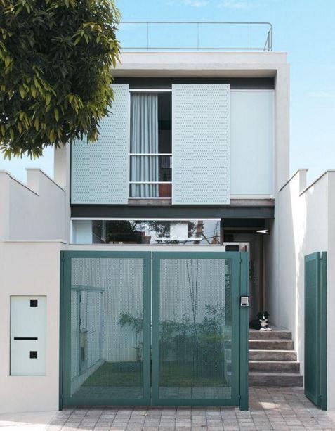 Fachadas para casas pequeñas 5 metros de frente
