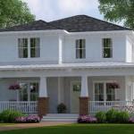 Imágenes de planos de casas de dos plantas con fachadas estilo americano gratis