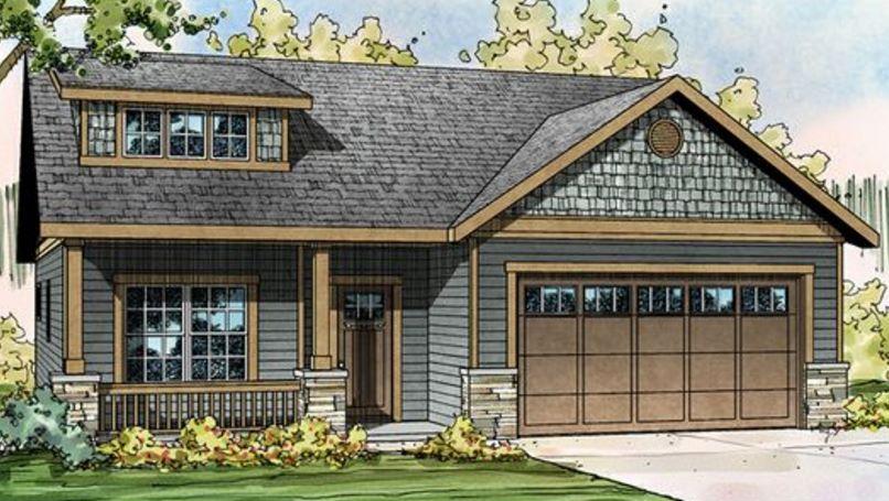 Imágenes de planos de casas de dos plantas con fachadas estilo americano