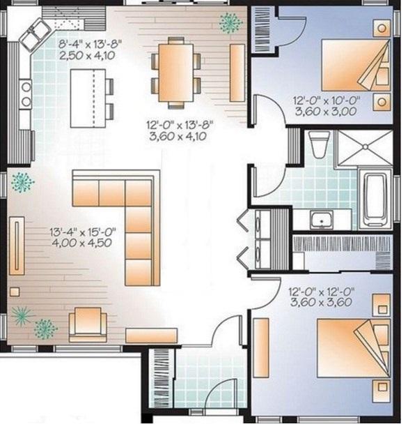 Planos casa 80 metros cuadrados for Casa moderna de 70 metros cuadrados