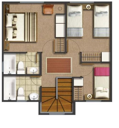 Casas campestres for Modelo de casa segundo piso