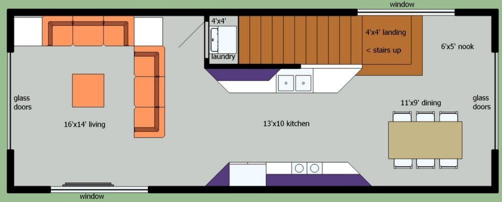 Planos de duplex de dos dormitorios