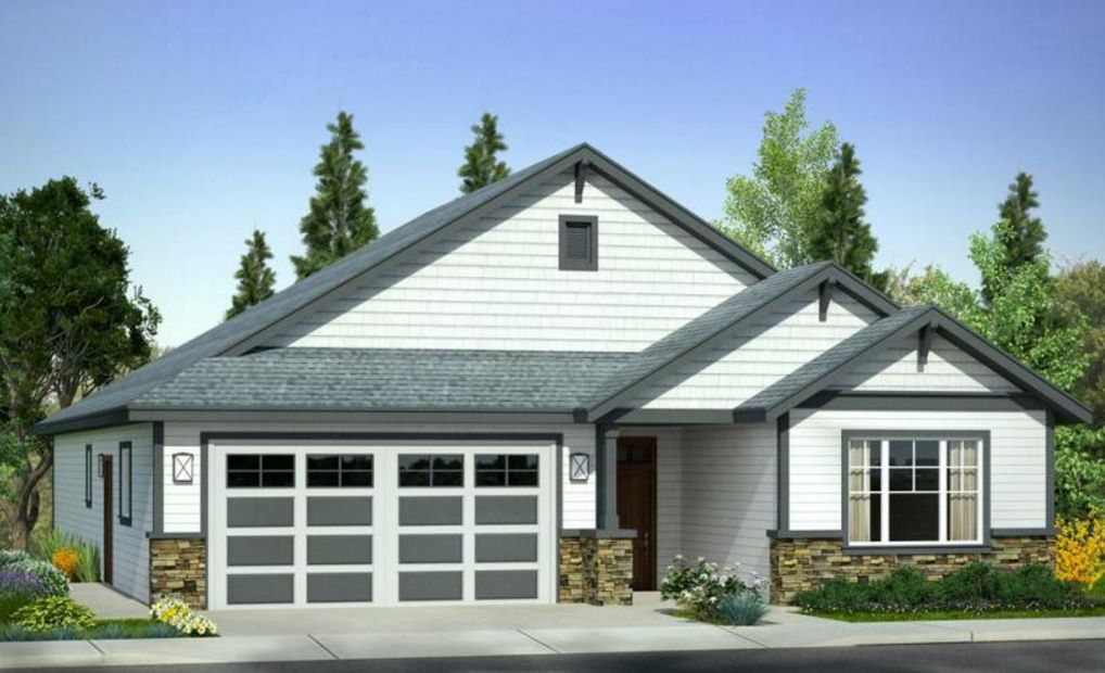 Planos y fachadas de casas pequeñas de una planta y 3 dormitorios modelo americana