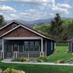 Planos y fachadas de casas pequeñas de una planta y tres dormitorios modelo americana
