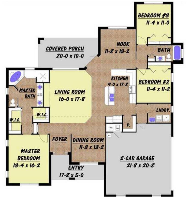 Dise os de casas con 3 rec mara en un terreno de 200 - Como sacar los metros cuadrados de una habitacion ...