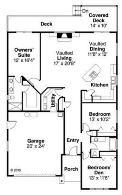 fachadas de casas pequeñas de una planta y tres dormitorios modelo americana