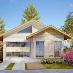 Casa sencilla de un piso dos aguas