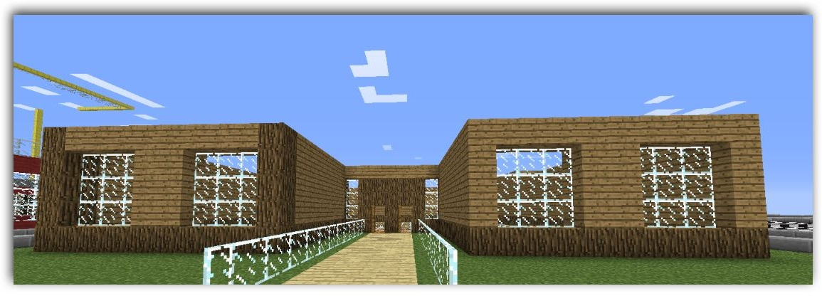 Como hacer una bonita casa paso a paso minecraft pocket for Minecraft videos casas