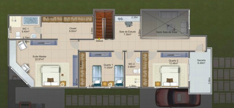 Diseños de casas modernas de 8 x 20