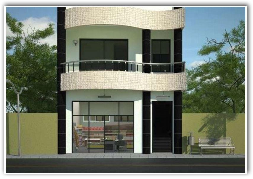 Fachadas de casa de planta baja disenos de casas de dos - Casas de dos plantas ...
