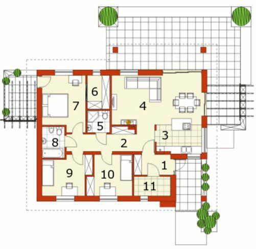 Planos de casas de 70m2 con 3 dormitorios gratis