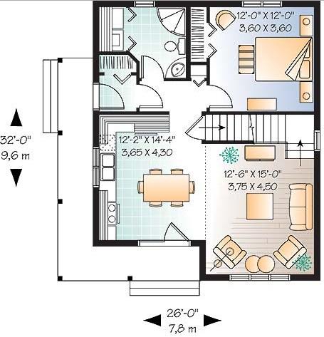 planos de casas de 90 metros cuadrados de 2 pisos
