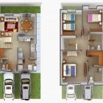 Planos de casas de dos plantas de 150 metros cuadrados