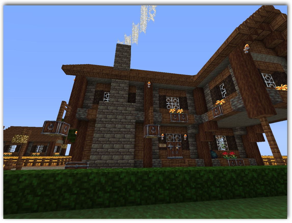 Minecraft planos para mansion for Casas modernas minecraft faciles