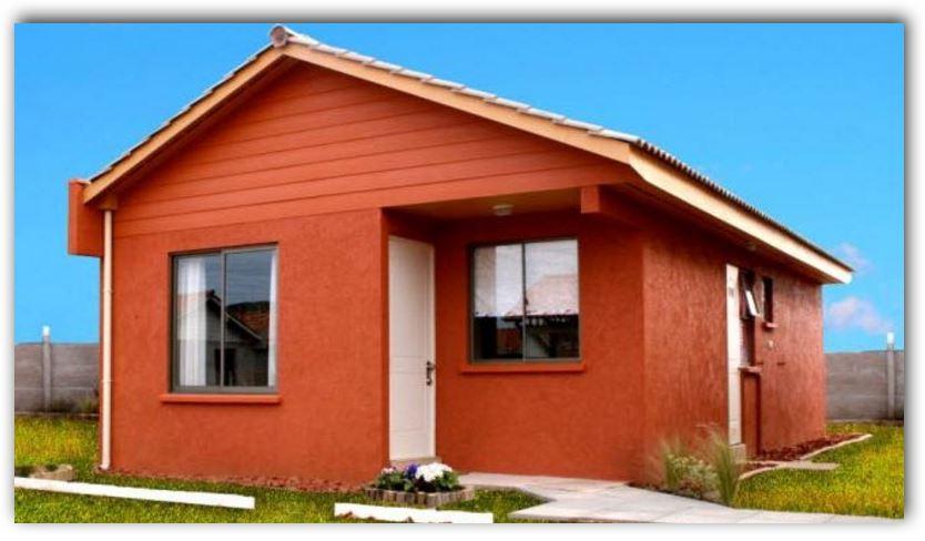 Planos y fachadas de casas bonitas y peque as de 60 y 70 for Casas chicas pero bonitas