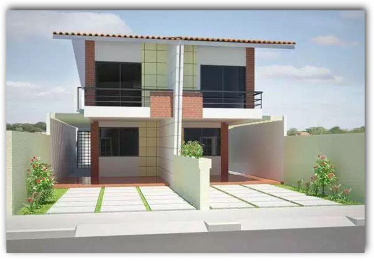 casas duplex fachada 6 metros de ancho