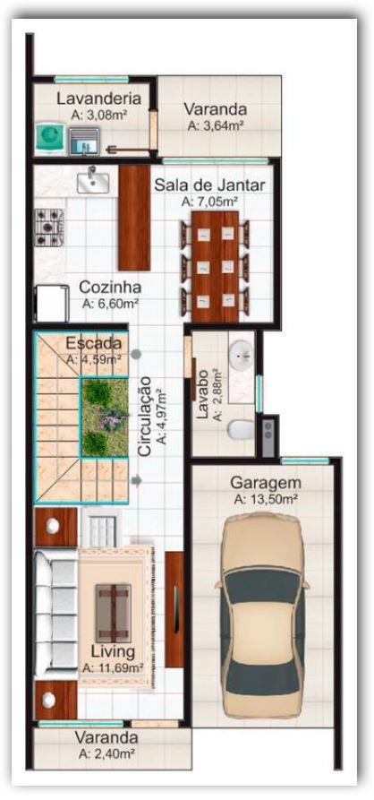 plano de casa de 140 metros