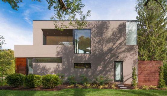 Casa de forma triangular fachada